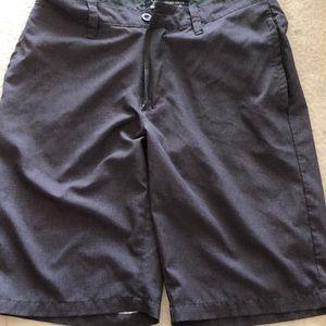Dark grey/ Black polo shorts